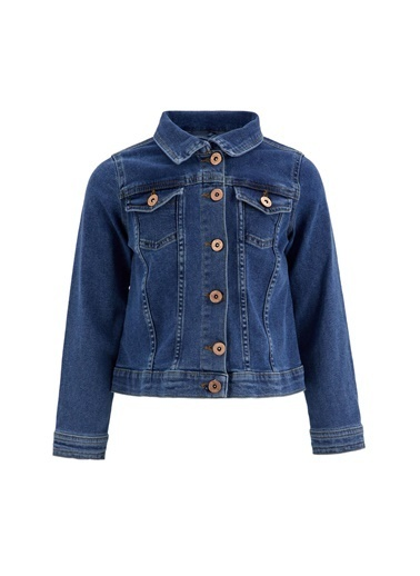 DeFacto Kız Çocuk Jean Ceket Mavi